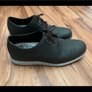 Black Cole Haan Leather Oxford Dress Shoes